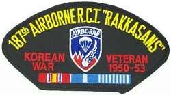187th Airborne Korean War Veteran Patches